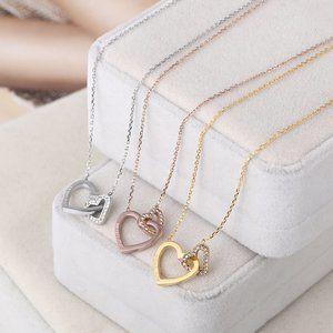 Michael Kors Diamond Double Love Fashion Necklace